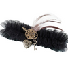 Black Steampunk Garter