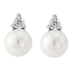 Simple Pearl & CZ Stud Earrings