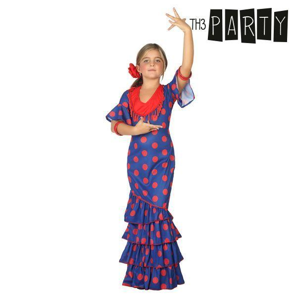 Costume for Children Flamenco dancer Blue - SuitFancy
