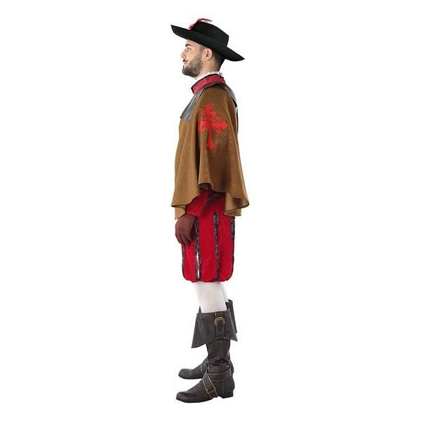 Costume for Adults 113817 Male musketeer Red (3 Pcs) - SuitFancy