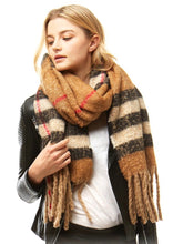 Load image into Gallery viewer, Plaid Boucle Scarf 2 Colors