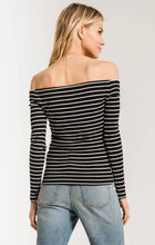 Load image into Gallery viewer, The Stripe Long Sleeve Off Shoulder Top