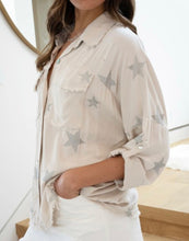 Load image into Gallery viewer, Star Raw Edge Blouse