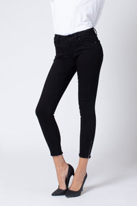KanCan Zip Ankle Skinny in Black