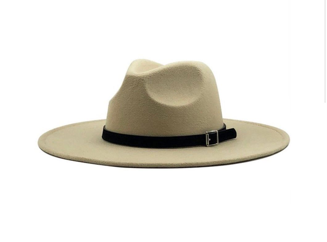Wide Brim Belted Panama Hat In 4 colors