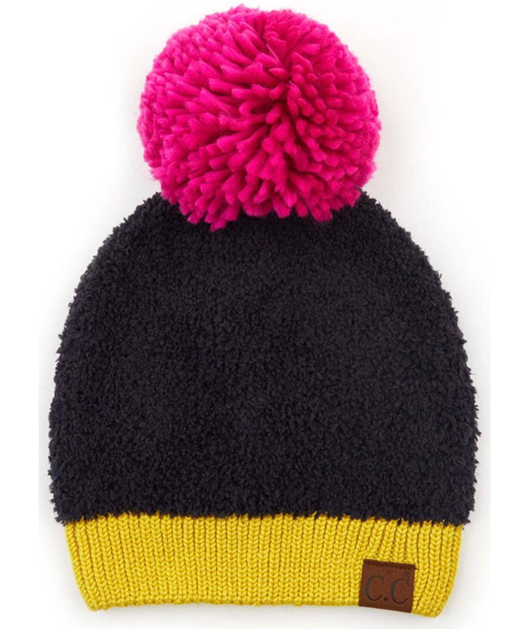 SALE! CC Knit Sherpa Beanie with Contrasting Color
