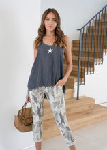 Load image into Gallery viewer, Camo Lurex Side Stripe Jogger