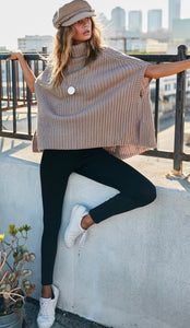 Turtle Neck Sweater Cape