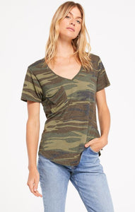 Z Supply Camo Vneck Tee