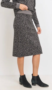 Soft Knit leopard Skirt