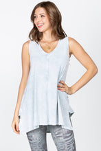 Load image into Gallery viewer, Mineral Wash Vneck Sleeveless top