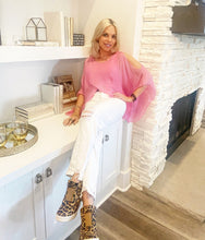 Load image into Gallery viewer, PRE ORDER! Hot Pink Cold Shoulder Blouse