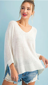 Best Seller- Hi Low Knit Sweater in 3 Colors