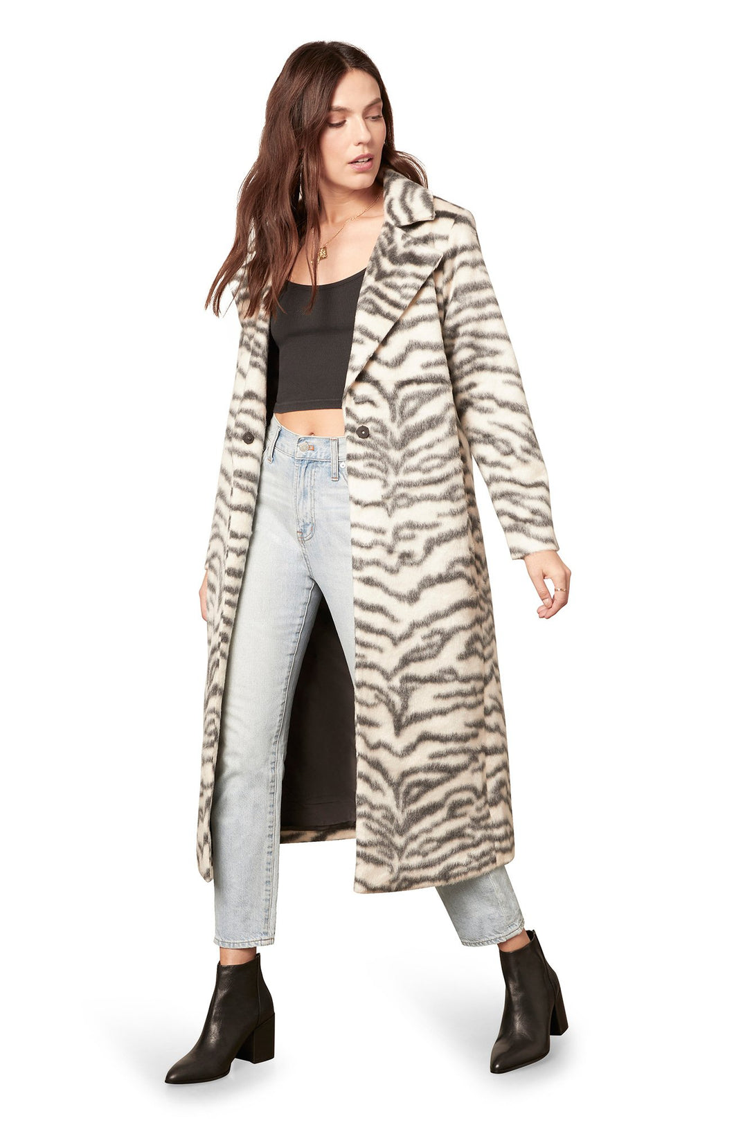 BB Dakota Zebra Cake Coat