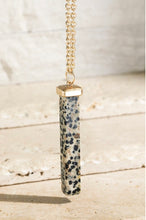 Load image into Gallery viewer, Natural Stone Bar Pendant Necklace - 4 Colors