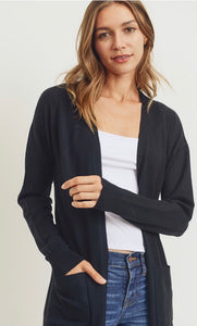 Soft and Classic Long cardigan In 3 Colors