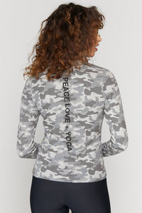 Peace Love Yoga Active L/S Tee from Spiritual Gangster