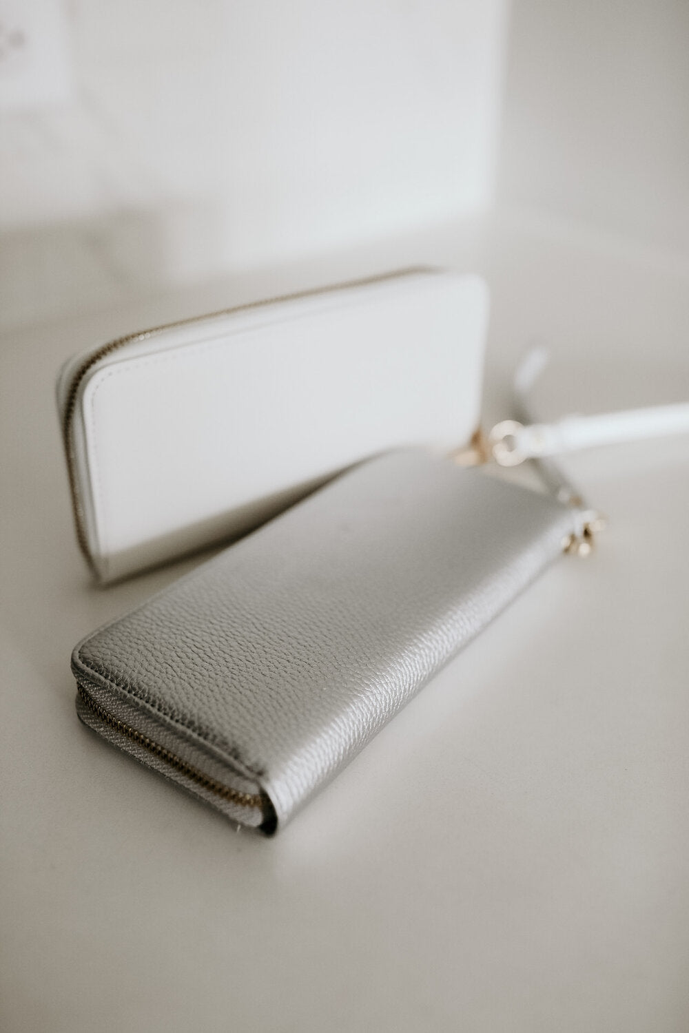 Leather Wallet/Wristlet/Clutch in 2 Colors