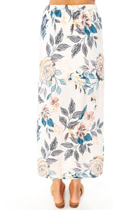 Lena Midi Skirt -Full Bloom- Saltwater Luxe