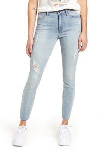 Carly High Waist Raw Hem Ankle Skinny  by Articles of Society