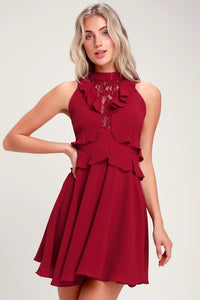 Bb Dakota Red Ruffle Dress