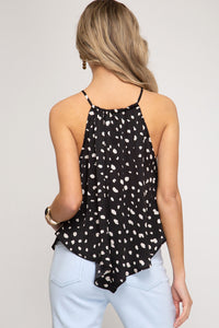 Black and White Cami Top