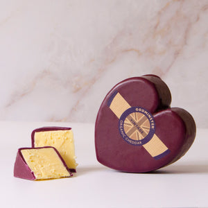 Godminster Organic Vintage Cheddar Hearts cheese
