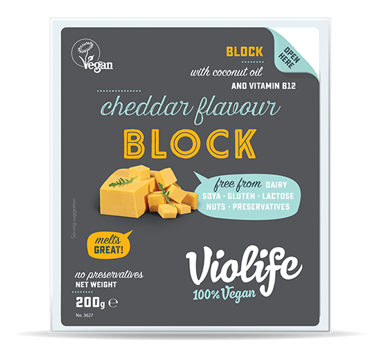 vegan cheese  Cheddar Flavour Block