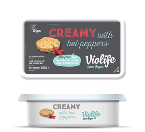 vegan cheese Creamy with Hot Peppers