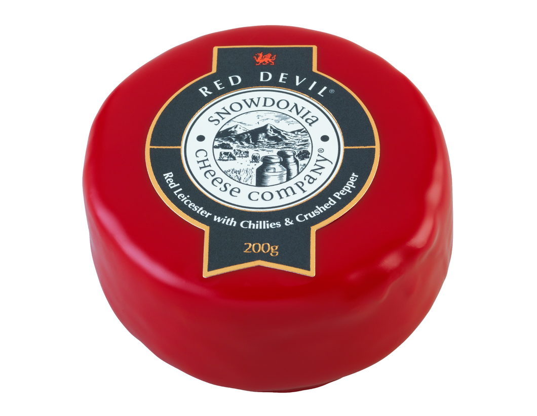 Red Devil cheese truckle