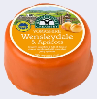 yorkshire Wensleydale and Apricot cheese
