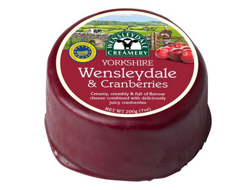 Yorkshire Wensleydale & Cranberries  cheese truckle