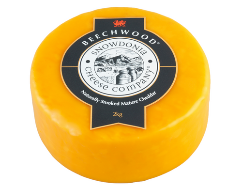 Beechwood Smoked cheese truckle
