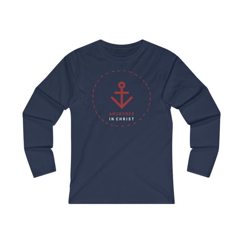Anchored in Christ Women's Fitted Long Sleeve Tee