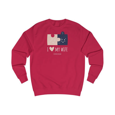 I Love My Wife Men's Long Sleeve Crewneck