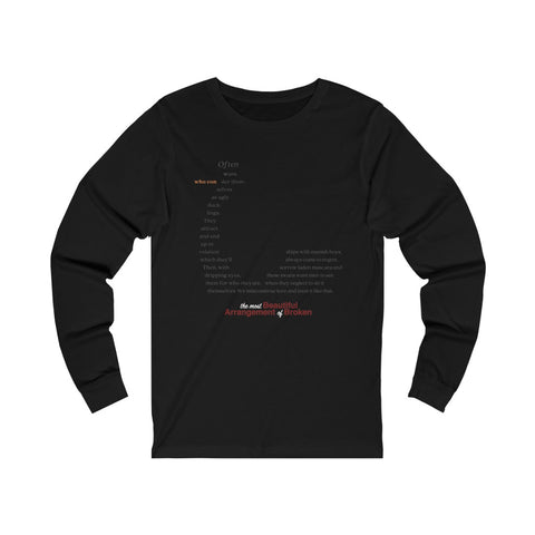 Often Women's Jersey Long Sleeve Tee no. 2 (The Most Beautiful Arrangement of Broken Collection)