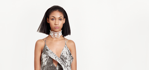 White 3D printed Courage Redefined Choker