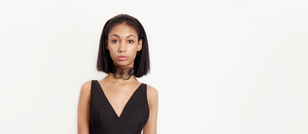 Black 3D printed Courage Redefined Choker