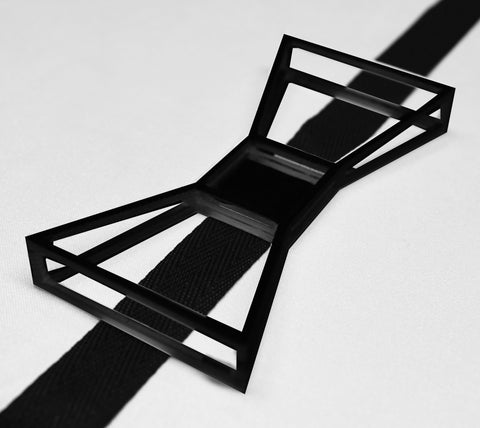 Justin LeBlanc's Black Wireframe inspired 3-D printed Bowtie