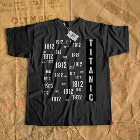 1912 Titanic shirt for little boy 6 7 8 years. Birthday cruise tees, vintage kid clothes, carnival cruise shirt