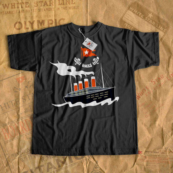 Adventure t shirt, Titanic summer cruise t-shirt for boy, eco-friendly vintage tee shirt-T-shirt new-Titanic shop-titanic-tee-shirt-tshirt-1912-Titanic shop