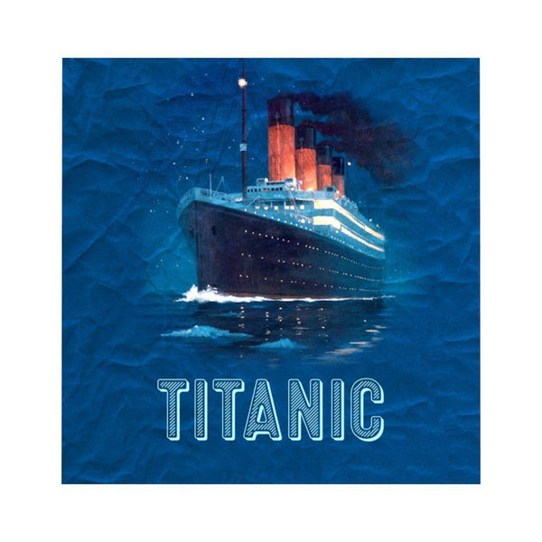Baby boy personalized navy duvet cover with Titanic design, Titanic gift for boy - Titanic fan-Home Decor-Printify-titanic-blanket-comforter-duvet-cover-Titanic shop