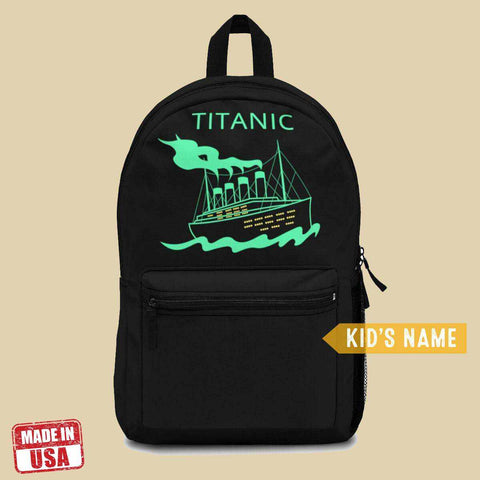Back to school Titanic backpack, backpack for boys - English history lover gift-School backpack-Printify-titanic-school-tote-bag-backpack-duffel-drawstring-white-star-line-Titanic shop
