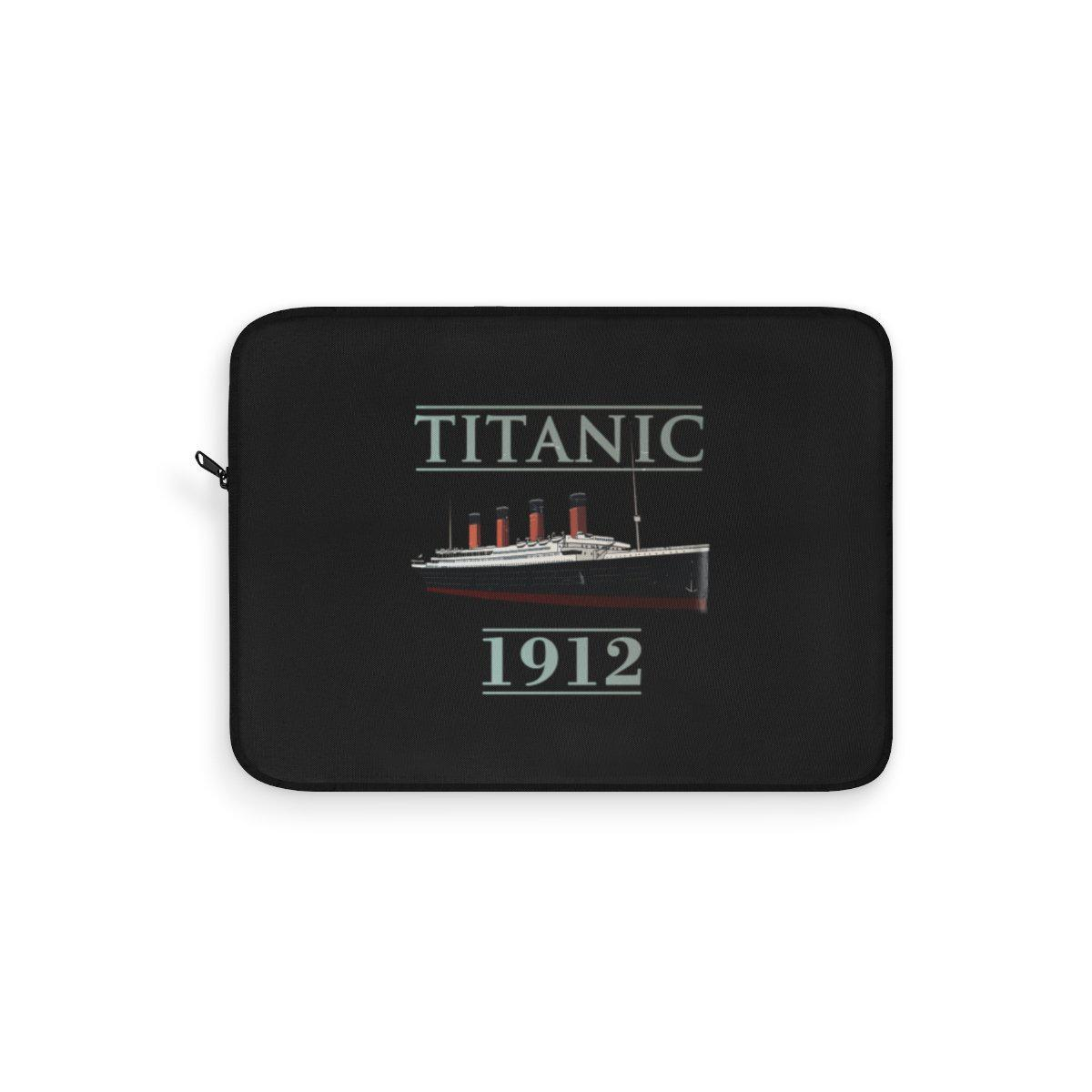 Best laptop sleeves for Titanic lover, Titanic 1912 stylish black laptop sleeves - history buff gift-Laptop Sleeve-Printify-titanic-school-tote-bag-backpack-duffel-drawstring-white-star-line-Titanic shop