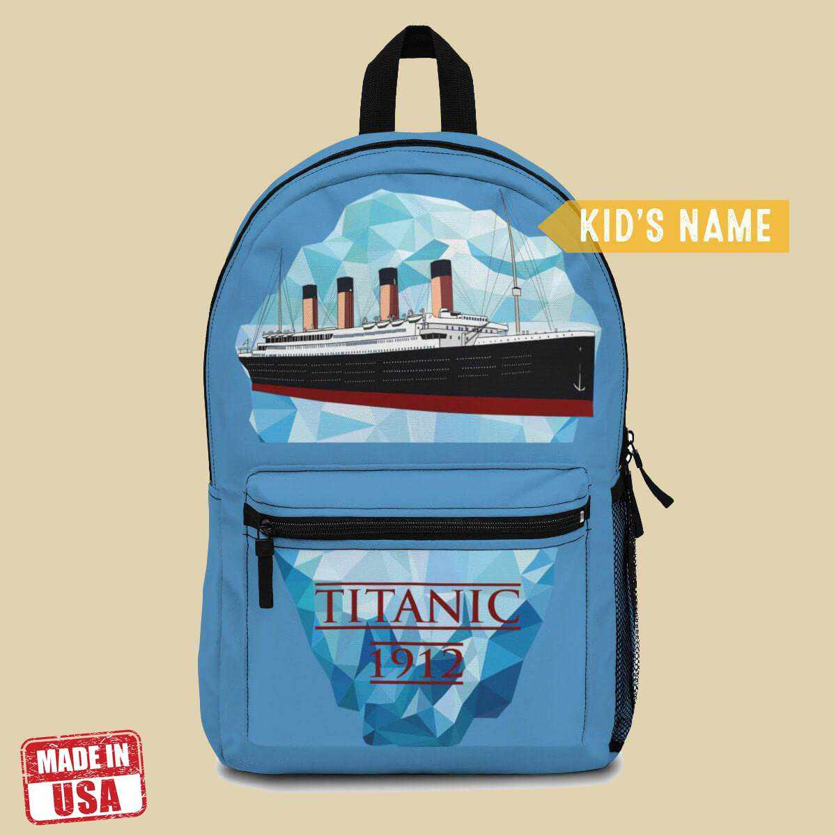 [Bestseller] School backpacks for girl, Titanic girls backpack, vintage kids backpack-School backpack-Printify-titanic-school-tote-bag-backpack-duffel-drawstring-white-star-line-Titanic shop