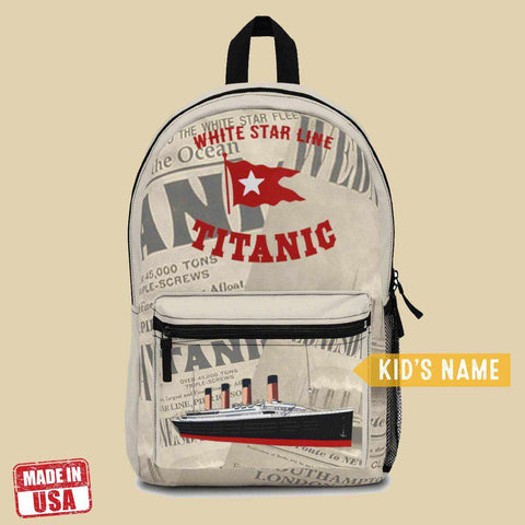 [Bestseller] Titanic handmade backpack, preschool backpack, Titanic boy bag gift-School backpack-Printify-titanic-school-tote-bag-backpack-duffel-drawstring-white-star-line-Titanic shop
