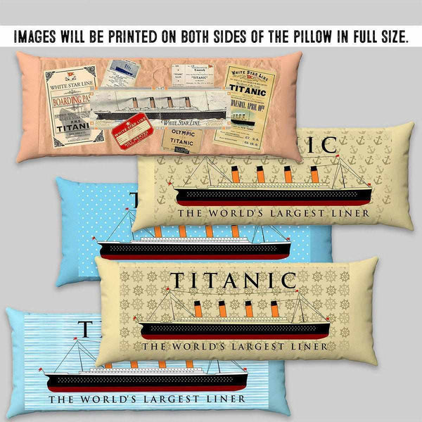 Blue body pillow, nautical custom body pillow case, personalized organic body pillow, Titanic gifr for little boy 6 7 8-Body pillow-Titanic shop-titanic-square-body-pillow-Titanic shop