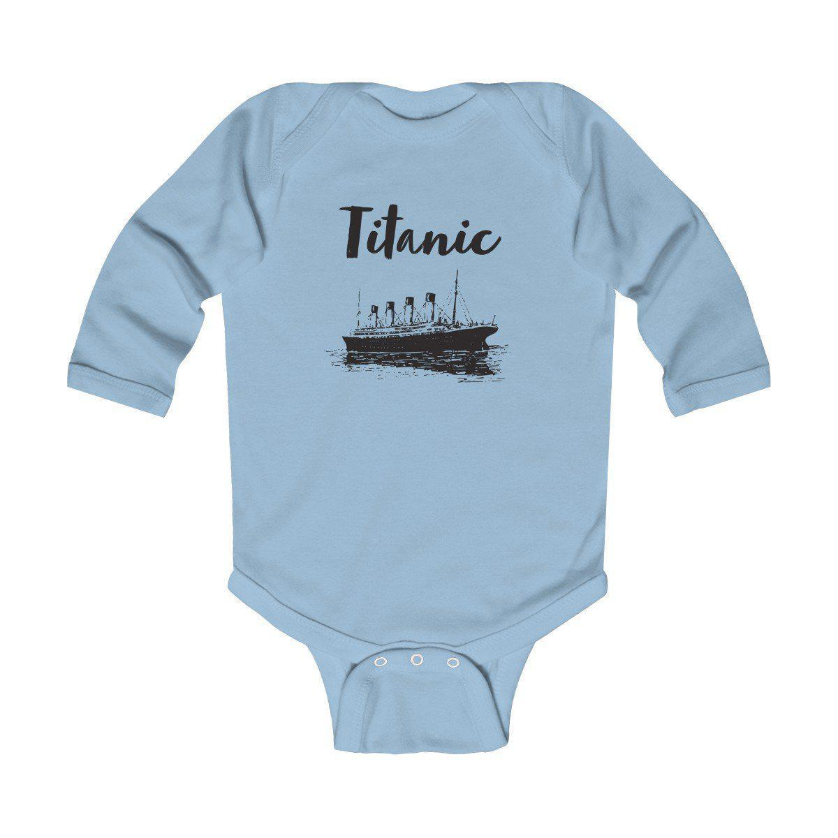 Boys & girls Titanic infant bodysuit, long sleeve soft cotton baby suit, custom jumpsuit-Kids bodysuit-Printify-titanic-big-ship-cruise-boy-gift-Titanic shop