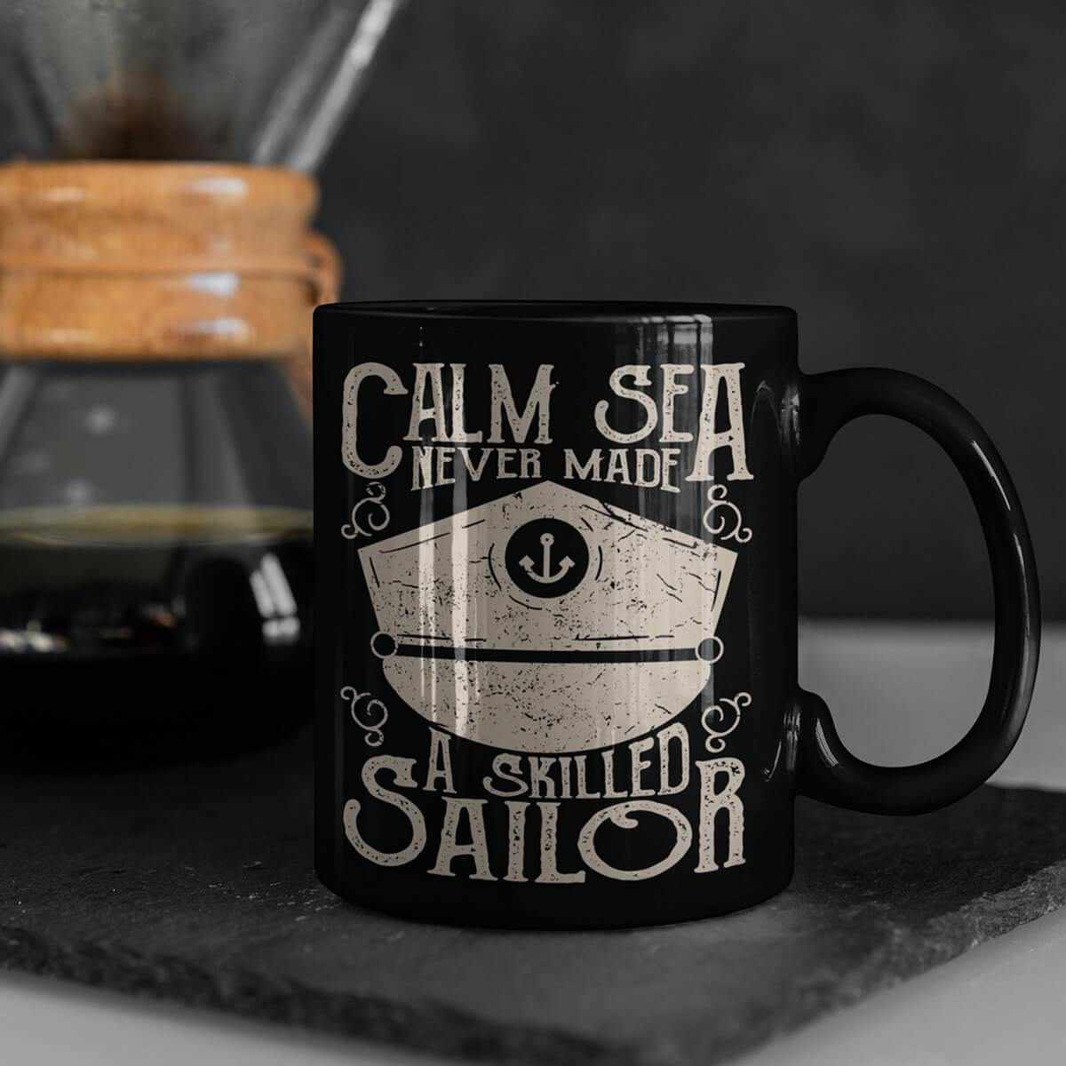 Calm sea never made a skilled sailor adventure mug, bottle, can holder. sailor gift, funny sea mug, 2-10 years old-Mug-Titanic shop-latte-mug-water-bottle-tumbler-can-holder-Titanic shop