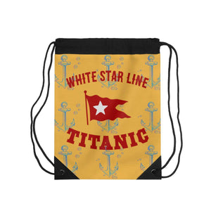 Cruise drawstring pouch, Titanic backpack, vintage drawstring for kids - retro drawstring bag-drawstring bag-Printify-titanic-school-tote-bag-backpack-duffel-drawstring-white-star-line-Titanic shop